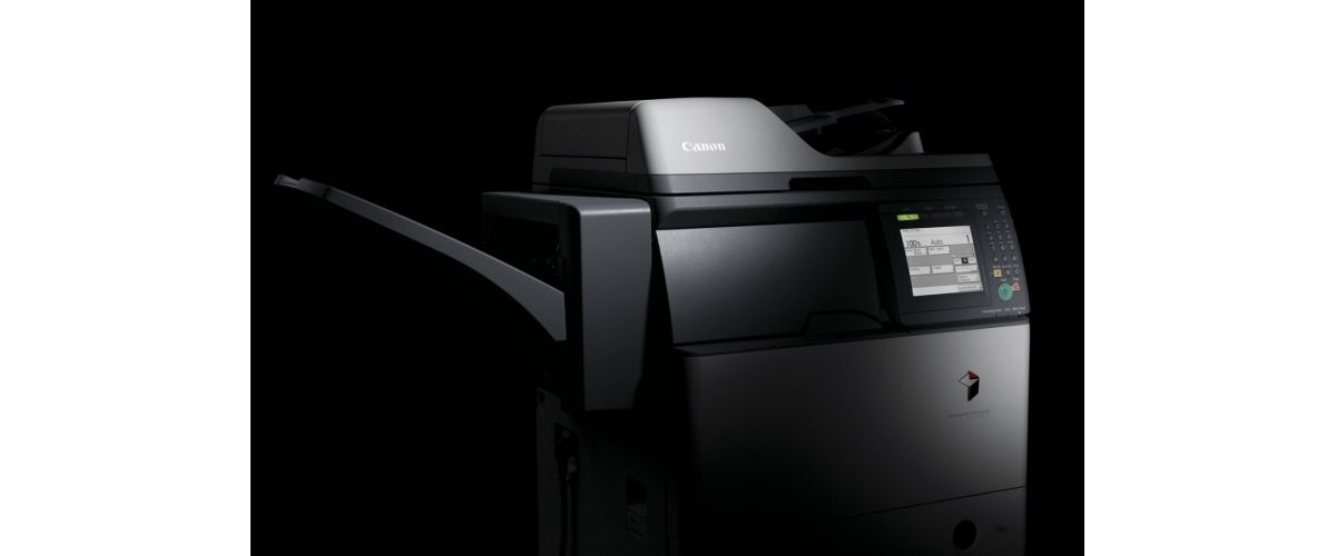 Canon BW 1730-1750 Printer and Copier with dramatic black background